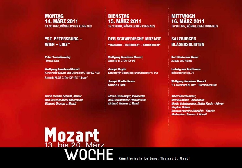 Mozart Programm
