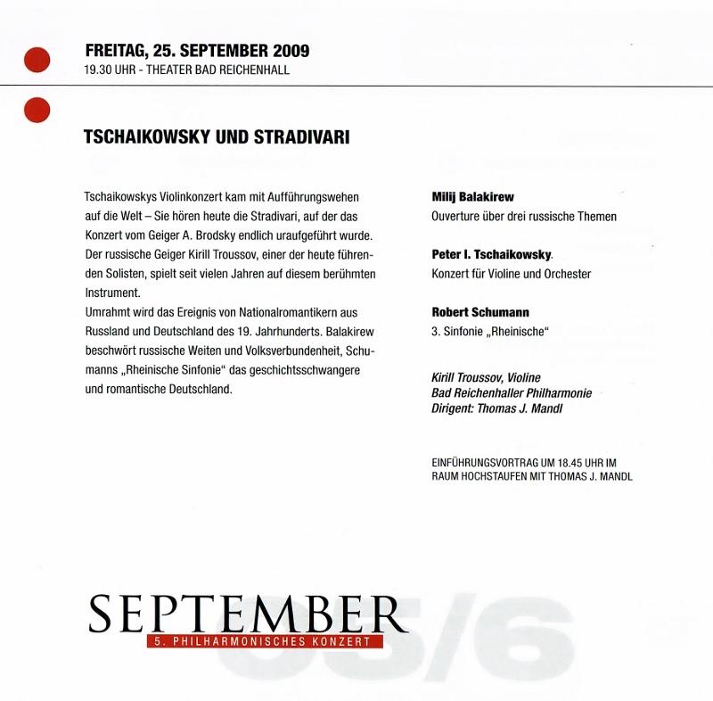 Tschaikowsy and Stradivari